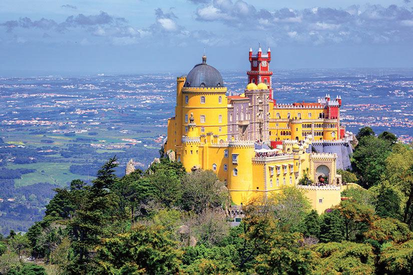 image Portugal Sintra Vue panoramique de Pena palace  fo