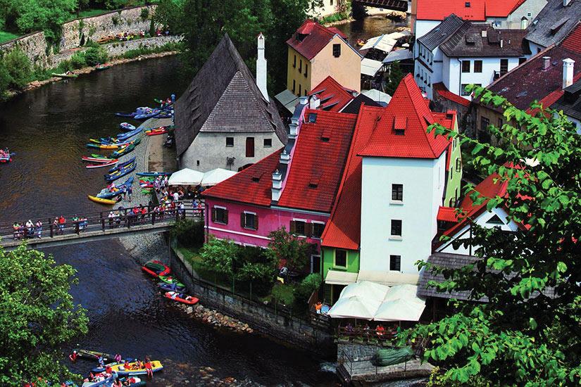 image Republique Tcheque Cesky Krumlov Panorama  fo