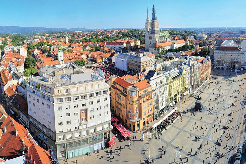 image Republique Tcheque Croate vue aerienne Zagreb  it