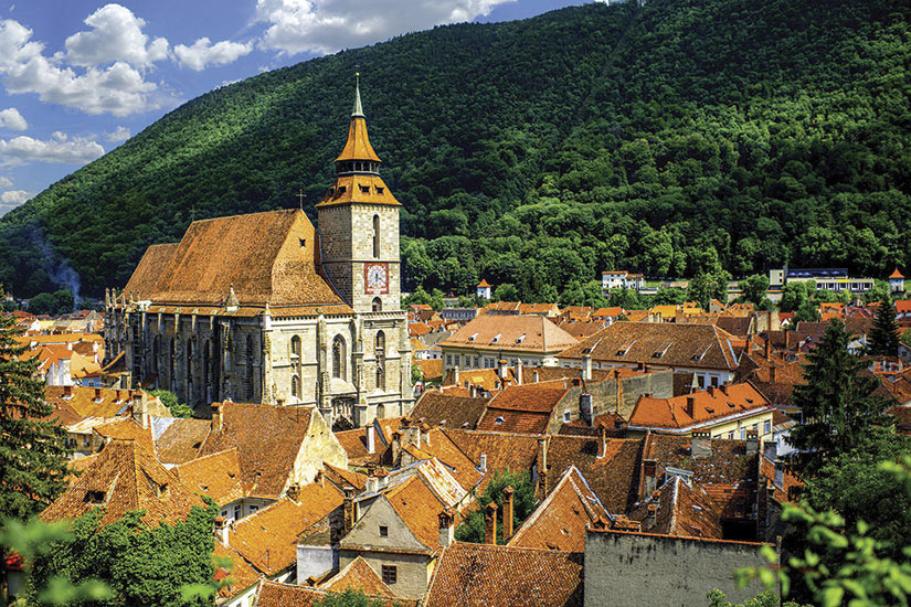image Roumanie Brasov paysage urbain  it