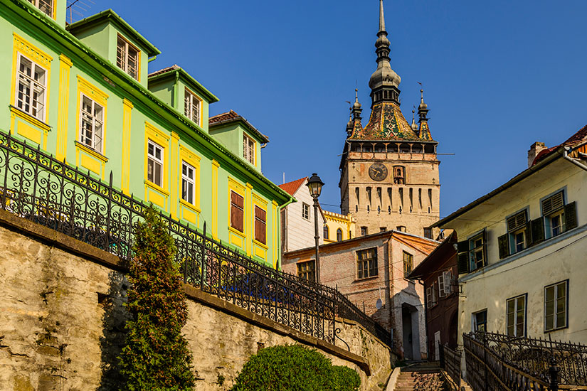 image Roumanie Sighisoara Tour horloge  it