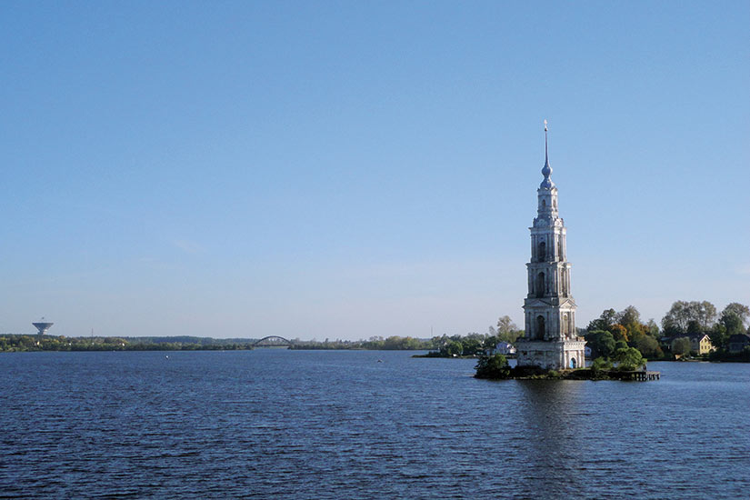 image Russie Kalyazin Volga riviere panoramique