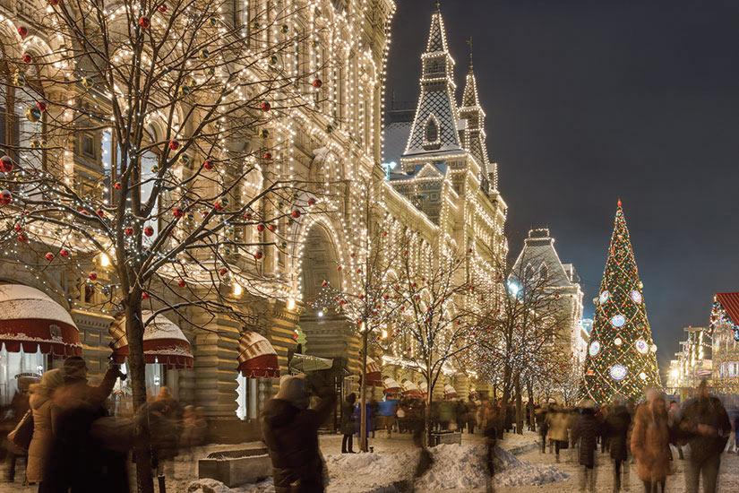 image Russie Moscou Place Rouge Nouvel An et Noel decoration de la ville  fo
