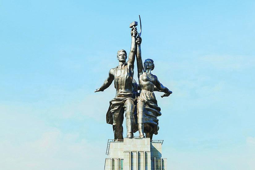 image Russie Moscou Travailleur et Kolkhoz femme statue  it
