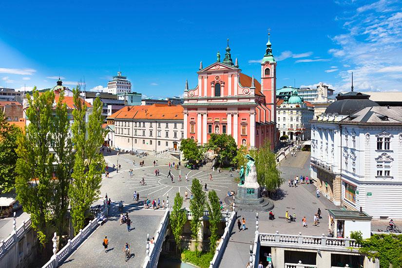 image Slovenie Ljubljana place Preseren  it