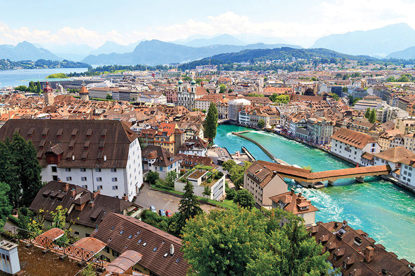 image Suisse Lucerne vue aerienne  it