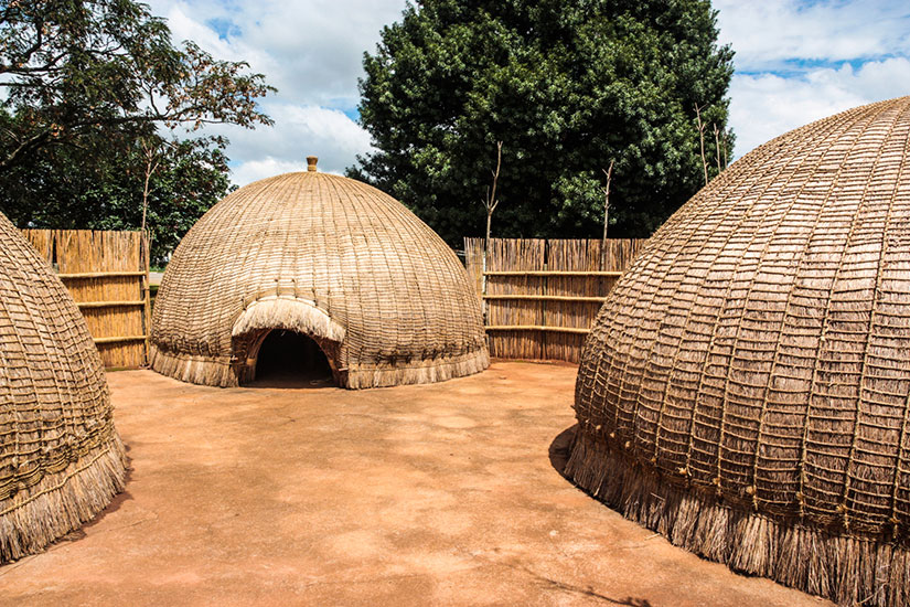 image Swaziland Cabanes traditionnelle  it