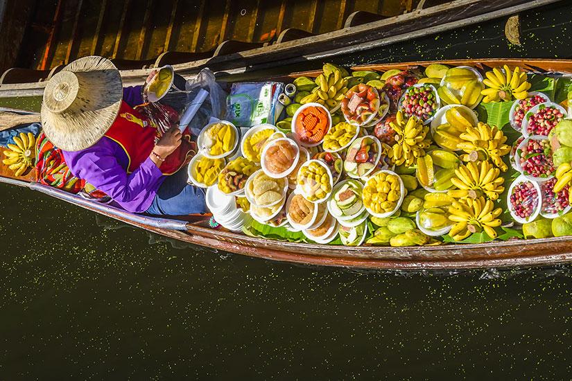 image Thailande Damnoen Saduak Marche flottant  fo