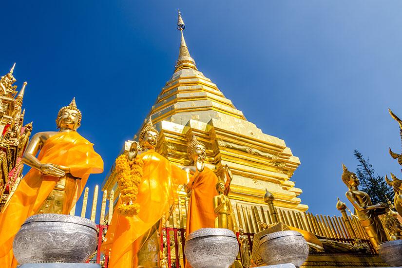 image Thailande Pagode Wat Phra That Doi Suthep  fo