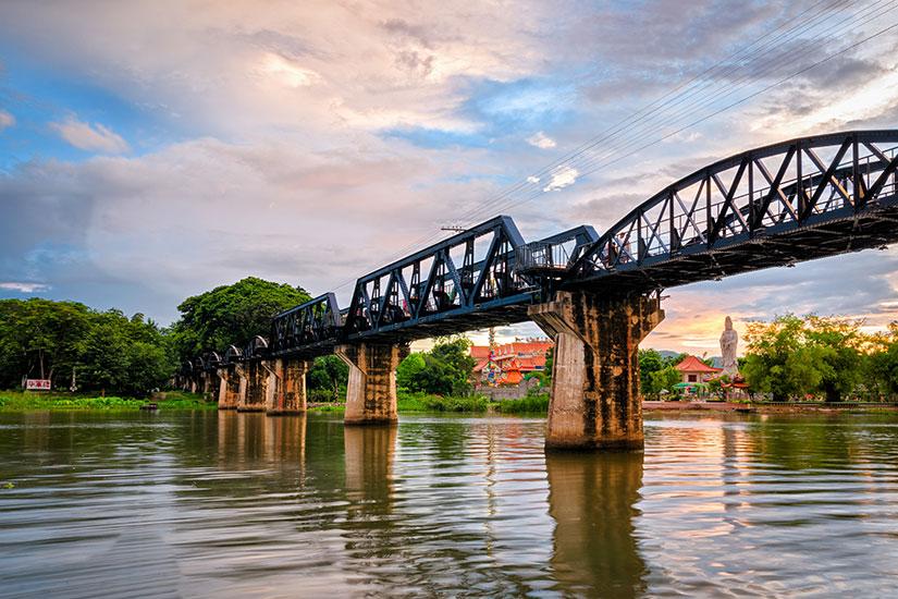 image Thailande pont riviere Kwai  fo