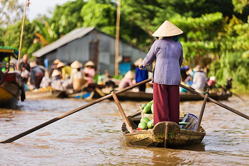 image Vietnam Delta Mekong marche flottant  it