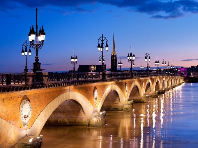 image france bordeaux nuit pont