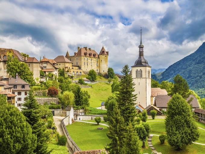image suisse gruyeres vue ensemble
