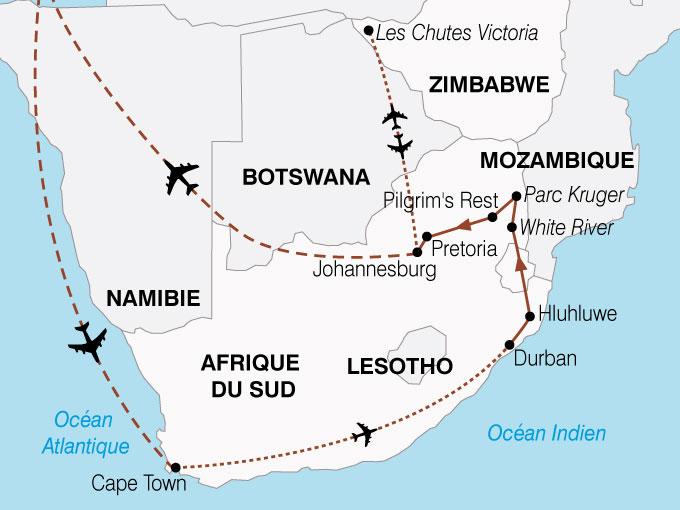 Préférence Circuit Afrique du Sud - Botswana - Zimbabwe : Panoramas sud  SF92