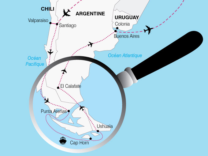 CARTE Amerique Latine Chili Argentine Uruguay  shhiver 559443