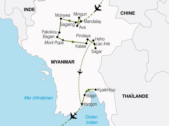 Circuit en Birmanie : Enchantements Birmans 15 jours - Nationaltours