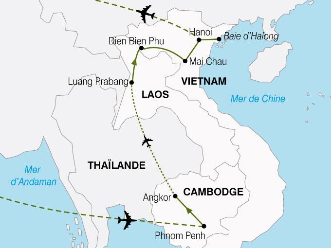CARTE Cambodge Laos Vietnam  shhiver 536479