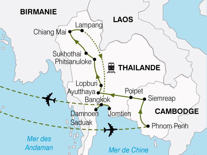 CARTE Cambodge Thailande  shhiver 715150