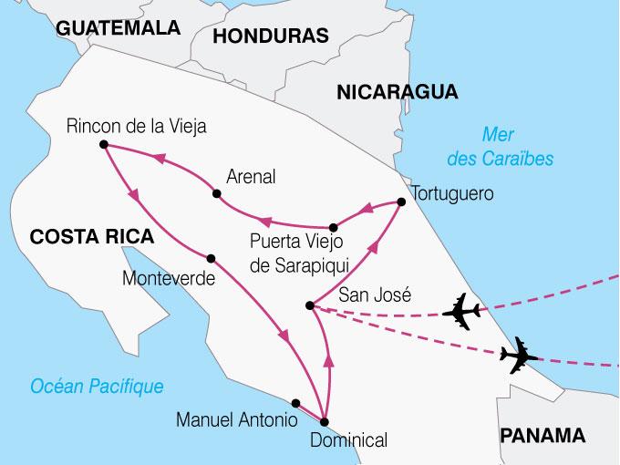 CARTE Costa Rica Paradis Vert  shhiver 794647