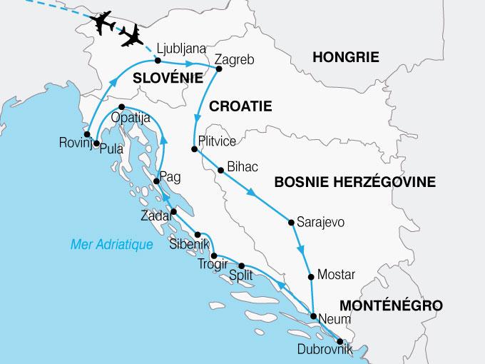 CARTE Croatie Splendeurs  shhiver 780568