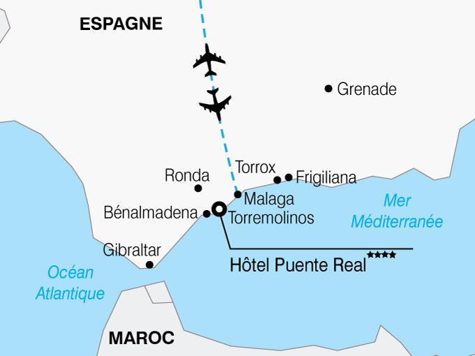 CARTE Espagne Andalousie Hotel Puente Real  shhiver 786468