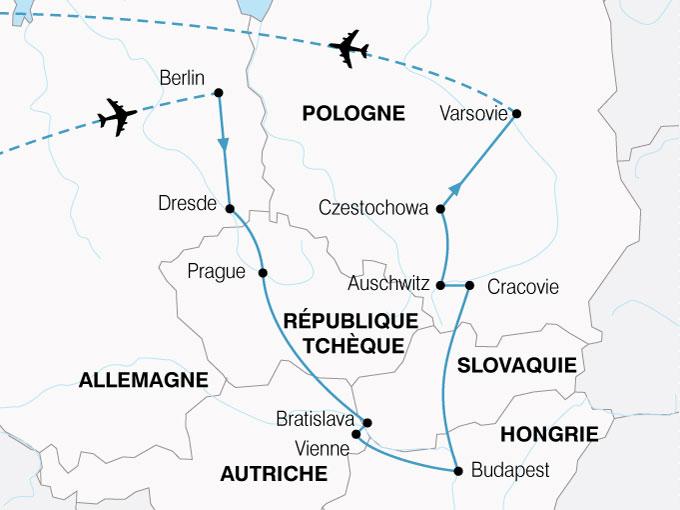 CARTE Europe Centrale Grand Tour  shhiver 745731