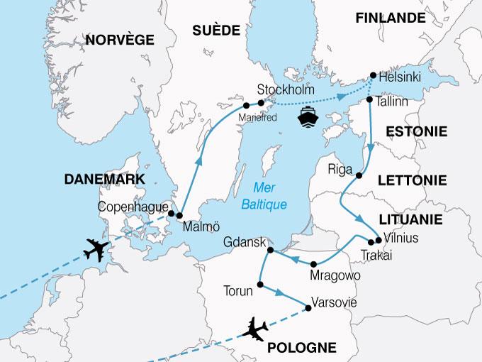 CARTE Europe Nord Grand Tour Baltique  shhiver 813101