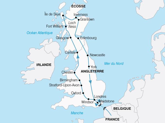 CARTE Europe Royaum Uni Angleterre Ecosse  shhiver 662260