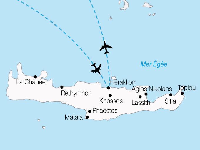 CARTE Grece Crete Autotour  shhiver 665949