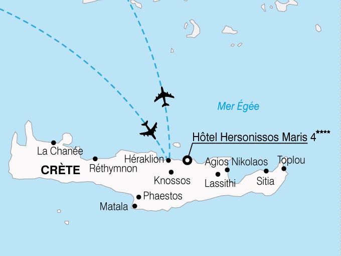 CARTE Grece Crete Hersonisso Maris  shhiver 386634
