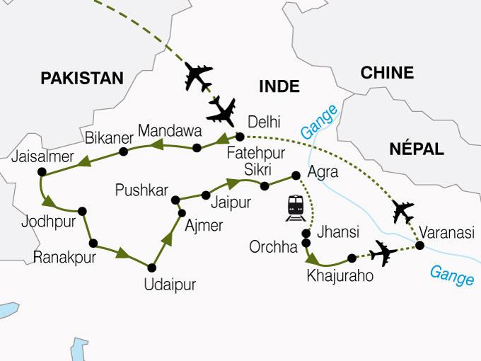 CARTE Inde Inde Nord Vallee Gange  shhiver 751087