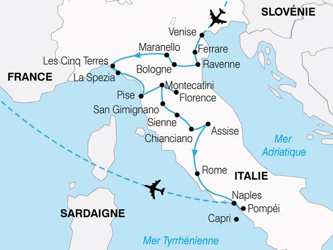 CARTE Italie Grand Tour  shhiver 686950