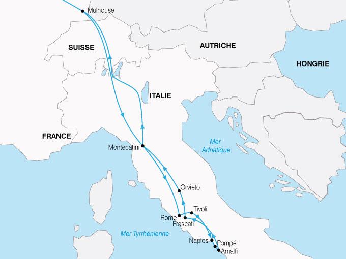 CARTE Italie Rome Sud Italie  shhiver 373793