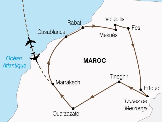 CARTE Maroc Cites Imperiales Magie Sud  shhiver 743266