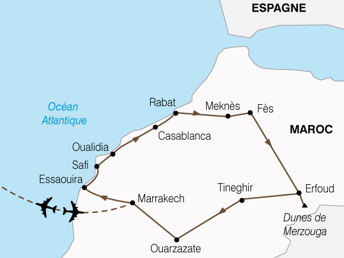 CARTE Maroc Splendeurs Marocaines  shhiver 809505