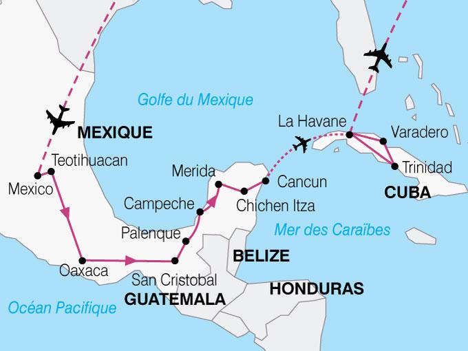 CARTE Mexique Cuba Mexico La Havane  shhiver 201720