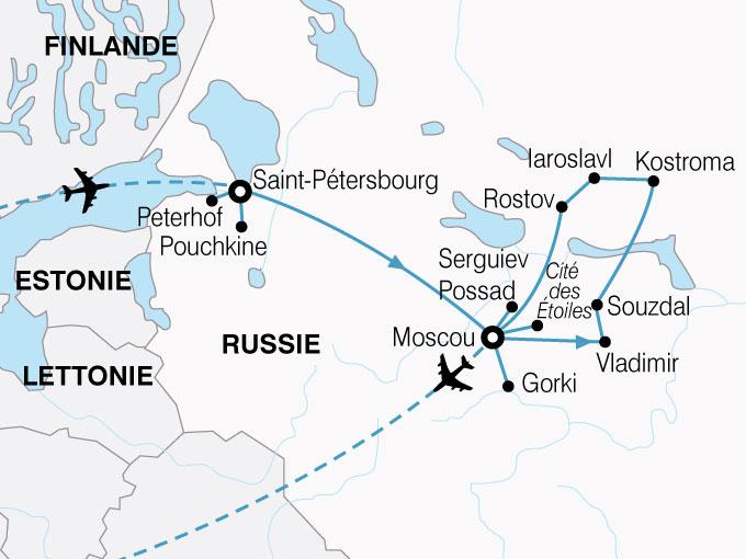CARTE Russie Villes dArt  shhiver 320448