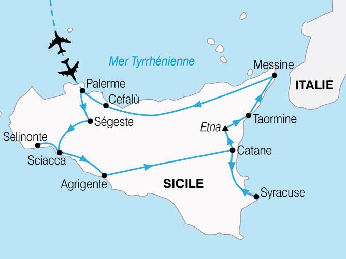 CARTE Sicile Grand Tour  shhiver