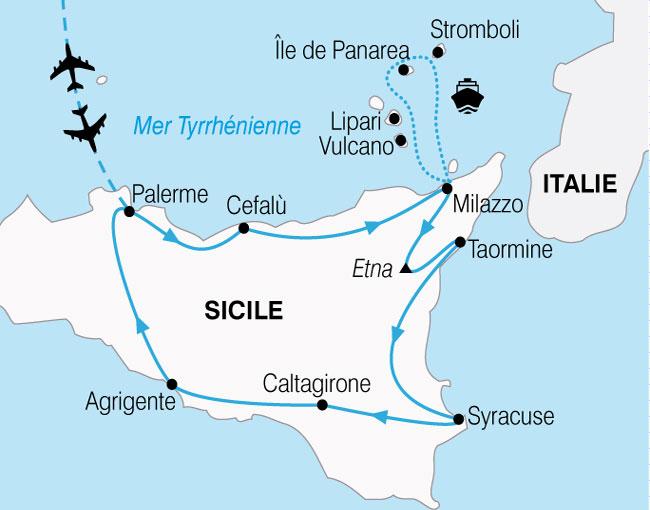 CARTE Sicile Iles Eoliennes  shhiver 139372