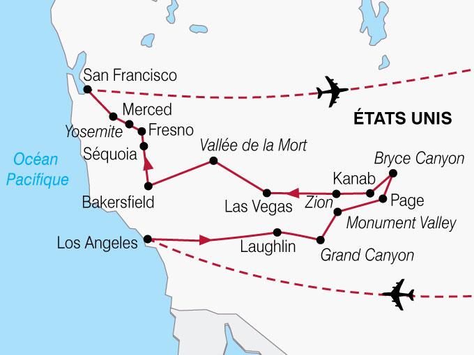 Extrêmement Circuit etats-unis, etats unis l'ouest américain 12 jours  ZK58