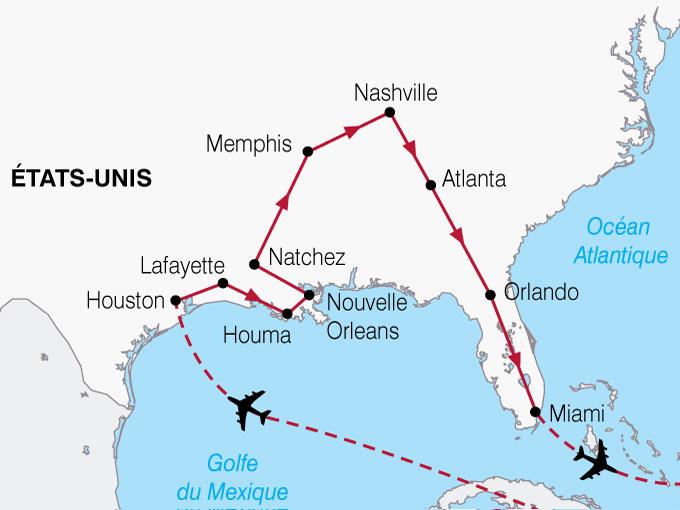 CARTE USA Texas Louisiane Floride  shhiver 178934