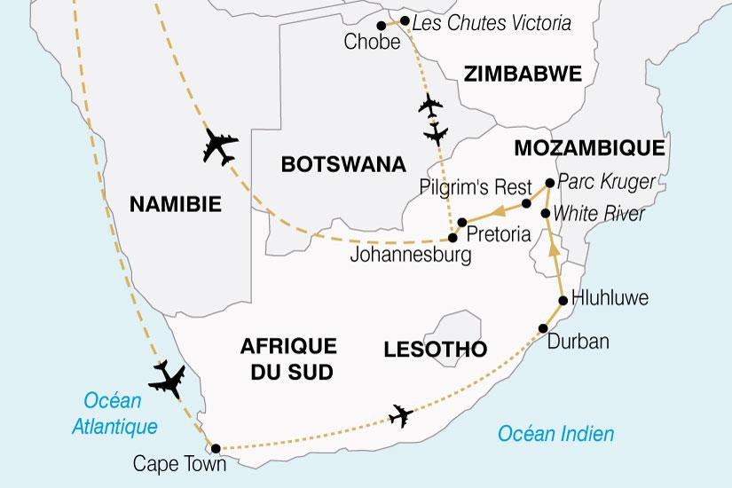 carte Afrique Australe Cap Bonne Esperance Chutes Victoria premium 462927