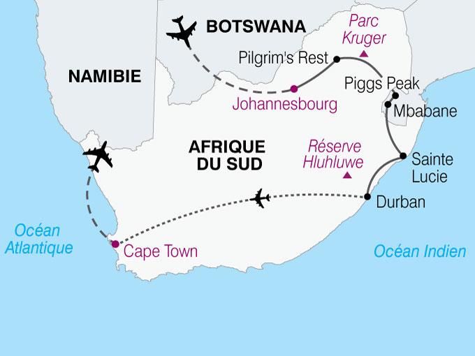 carte Afrique Du Sud Le Monde En Un Seul Pays  nthiver 438287