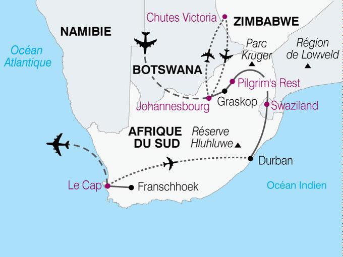 carte Afrique Du Sud Zimbawe  nthiver 633331