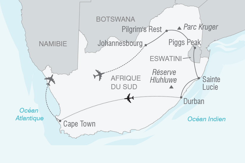 carte Afrique du Sud Incomparable Afrique du Sud NT20_341 394350