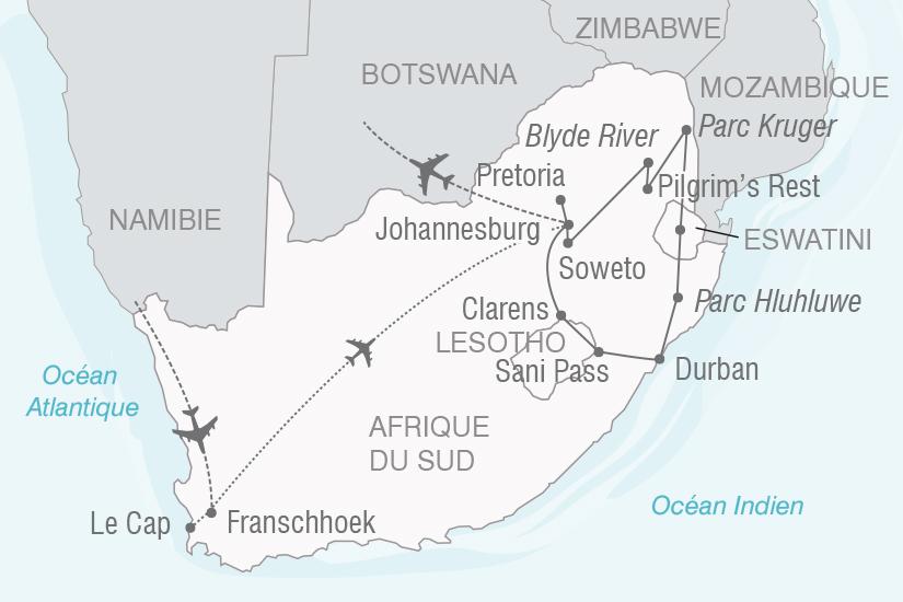 carte Afrique du Sud Les royaumes d Afrique Australe NT20_341 384607