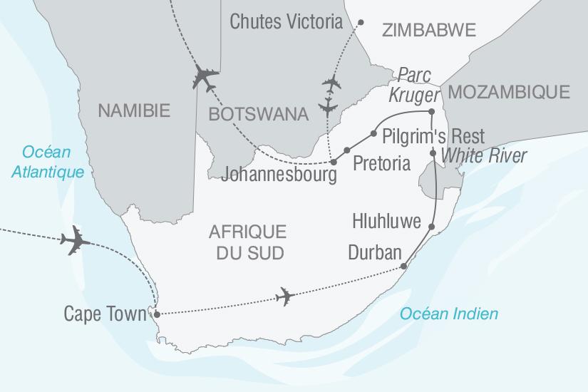 carte Afrique du Sud Zimbabwe Panoramas Sud Africains nt 2019_293 893384