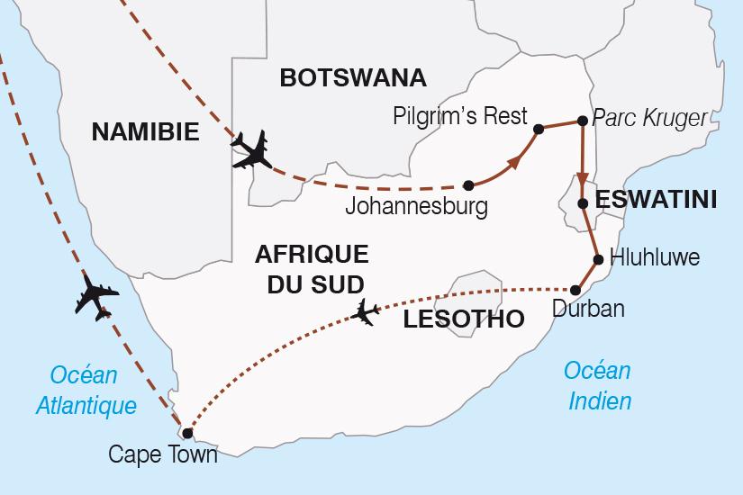 carte Afrique du Sud le Monde en un seul pays SH20_339 486585