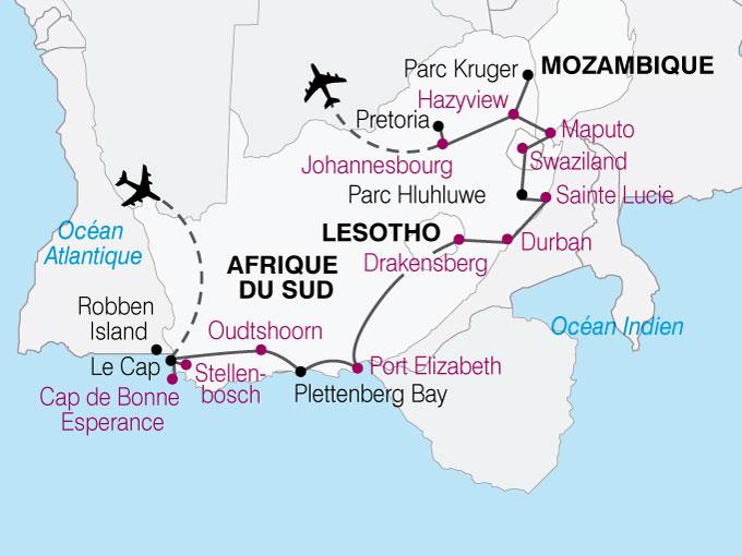 carte AfriqueSud Sur Les Traces Nelson Mendela  nthiver 367341
