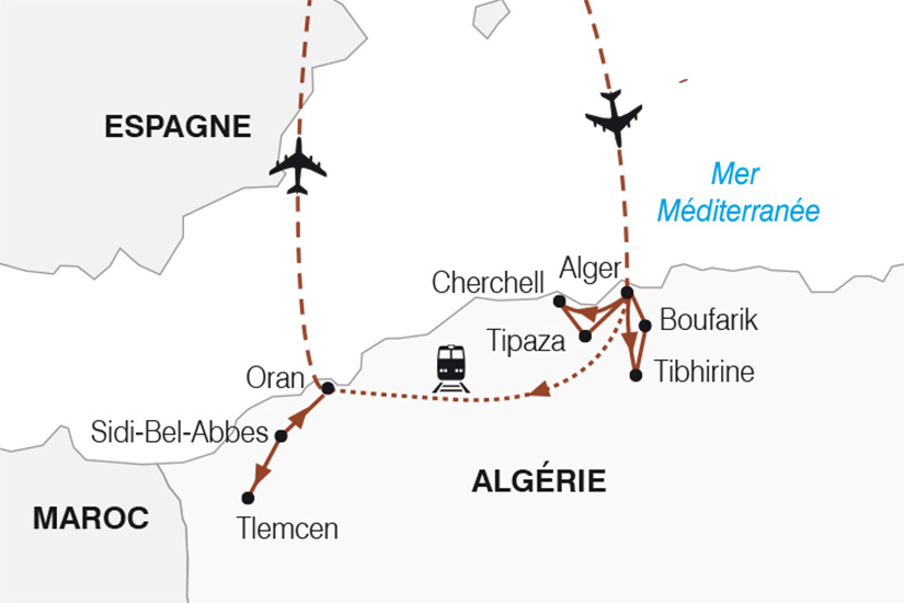 carte Algerie Alger Oran_267 423542